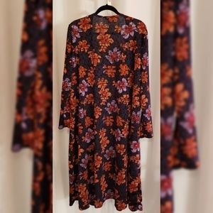 LuLaRoe Jackets & Coats - LulaRoe Multi-color floral duster sz XL
